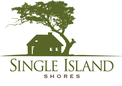 Vertical Stacked Single Island Shores logo