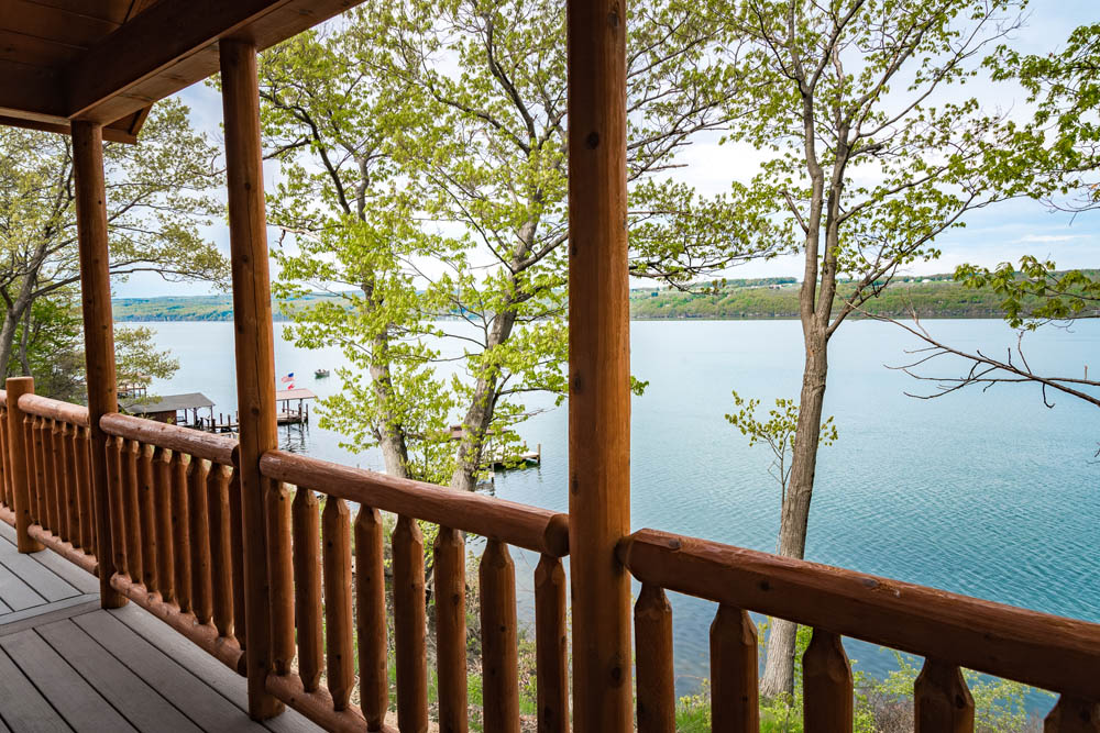 Lakefront Cottage deck view 2