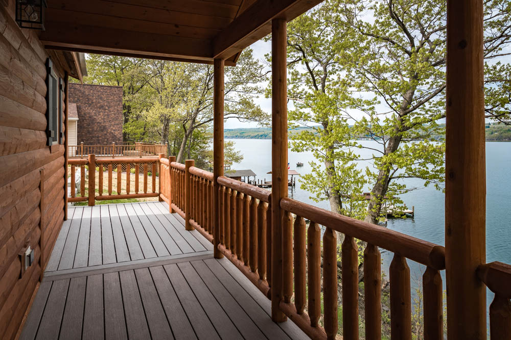 Lakefront Cottage deck view 3